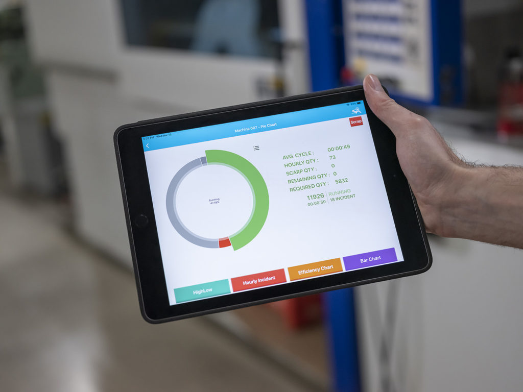 Smart Attend software on tablet provides predictive analysis